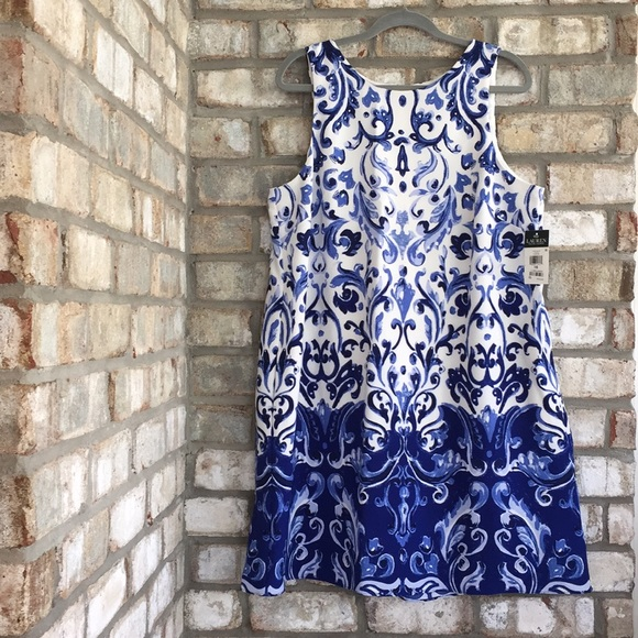 LAUREN RALPH LAUREN Dresses & Skirts - NWT LAUREN RALPH LAUREN WATERCOLOR A-LINE DRESS 16